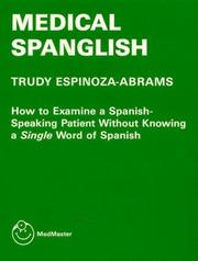 Cover of: Medical Spanglish (MedMaster Series)