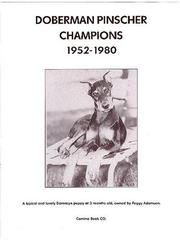 Cover of: Doberman Pinscher Champions 1952 1980