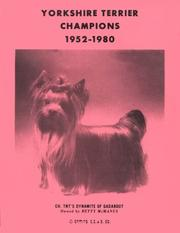 Cover of: Yorkshire Terrier Champions, 1952-1980