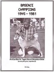 Cover of: Basenji Champions 1945-1981