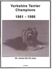 Cover of: Yorkshire Terrrier Champions, 1981-1986