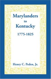 Cover of: Marylanders to Kentucky