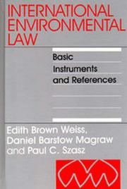 Cover of: International Environmental Law | Edith Brown Weiss