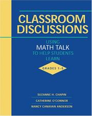 Cover of: Classroom Discussions | Suzanne H. Chapin