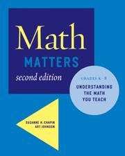 Cover of: Math Matters | Suzanne H. Chapin