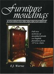 Cover of: Furniture mouldings