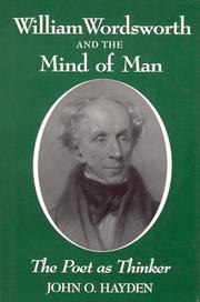 Cover of: William Wordsworth and the Mind of Man