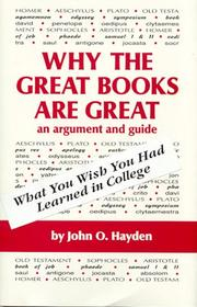 "Cover of: Why the ""great books"" are great"