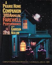 Cover of: APHC 3rd Final Performance: Third Annual Farewell Performance (Prairie Home Companion)