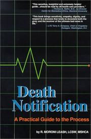 Cover of: Death notification | R. Moroni Leash