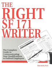 Cover of: The right SF 171 writer