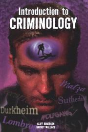 Cover of: Introduction to Criminology | Cliff Roberson