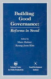 Cover of: Building good governance