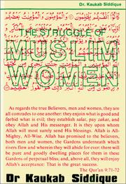 Cover of: struggle of Muslim women | Kaukab Siddique