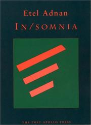 Cover of: In/somnia