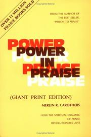 Cover of: Power in Praise