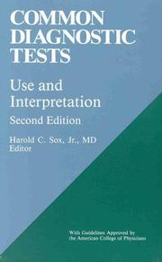 Cover of: Common diagnostic tests |
