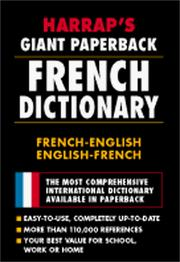 Cover of: Harrap's Giant Paperback French Dictionary