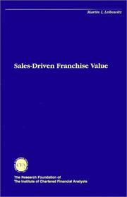 Cover of: Sales Driven Franchise Value