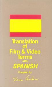 Cover of: Translation of Film and Video Terms into | Verne Carlson