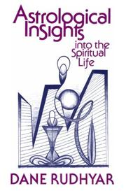 Cover of: Astrological Insights into the Spiritual Life