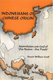 Cover of: Indonesians of Chinese origin