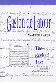 Cover of: Gaston de Latour | Walter Pater