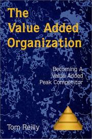 Cover of: The Value Added Organization