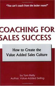 Cover of: Coaching for Sales Success