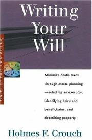 Cover of: Writing your will
