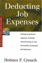 Cover of: Deducting job expenses