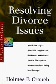 Cover of: Resolving divorce issues