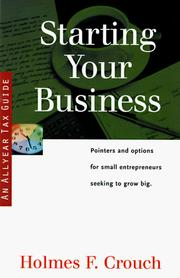 Cover of: Starting your business