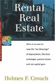 Cover of: Rental real estate