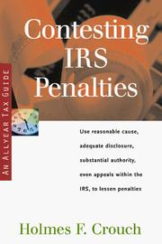 Cover of: Contesting IRS penalties