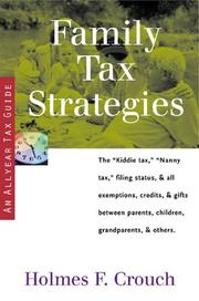 Cover of: Family tax strategies
