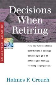 Cover of: Decisions when retiring