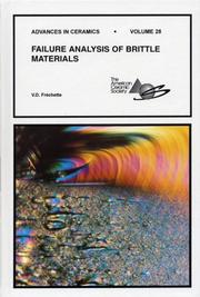 Cover of: Failure analysis of brittle materials | Van Derck FreМЃchette