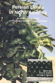 Cover of: Persian limes in North America | Michel Roy