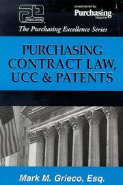 Purchasing contract law, UCC and patents by Mark Grieco