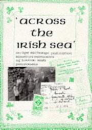 Cover of: Across the Irish Sea
