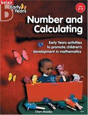 Cover of: Number and Calculating (Belair Early Years)