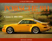 Cover of: Porsche 911 and Derivatives: A Collector's Guide