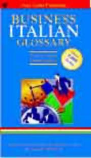 Cover of: Italian Business Glossary (Business Glossaries)