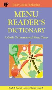 Cover of: Menu Reader's Dictionary