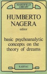 Cover of: Basic psychoanalytic concepts on the theory of dreams