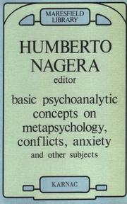 Cover of: Basic psychoanalytic concepts on metapsychology, conflicts, anxiety