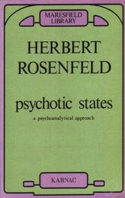 Cover of: Psychotic States