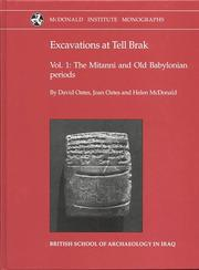 Cover of: Excavations at Tell Brak 1 | David Oates