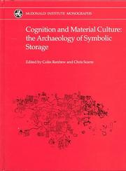 Cover of: Cognition and Material Culture
